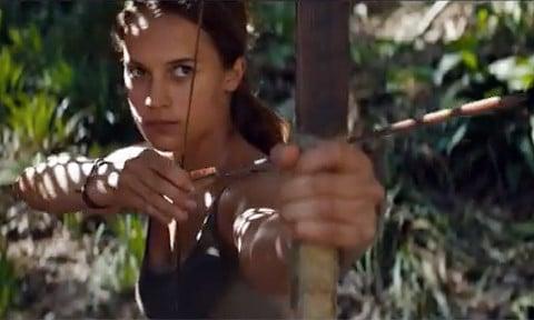 Tomb Raider trailer Alicia Vikander