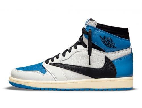 "Travis Scott x fragment x Air Jordan 1 High ""Military Blue"""