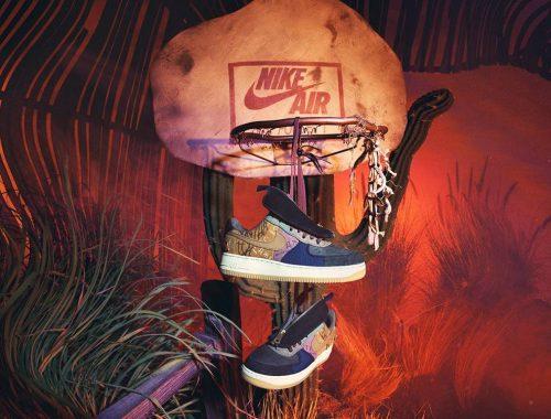 Travis Scott x Nike Air Force 1 Cactus Jack sneaker