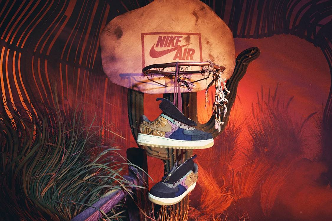 Travis Scott x Nike Air Force 1 Cactus Jack sneaker