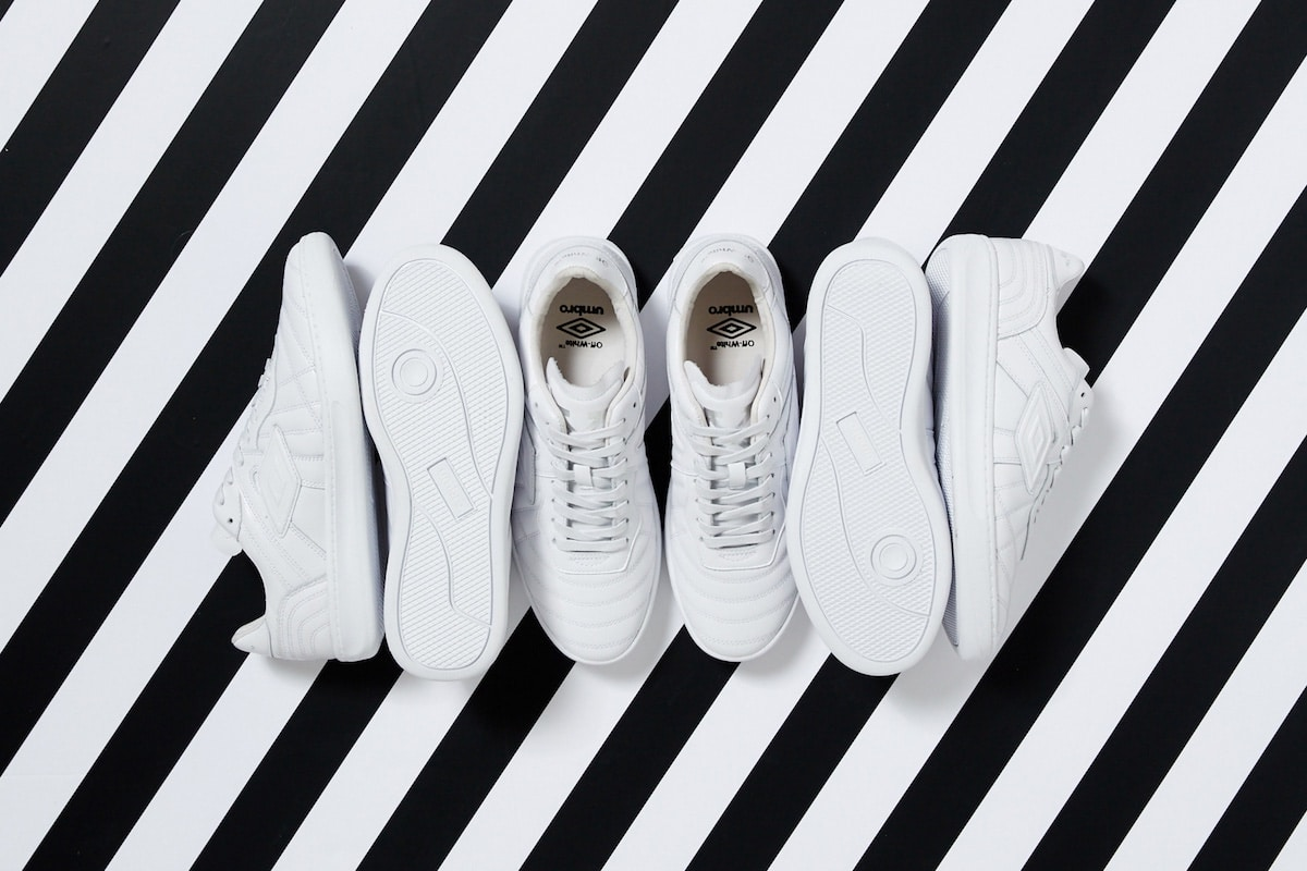 de off white x umbro coach sneakers in beeld mannenstyle. Black Bedroom Furniture Sets. Home Design Ideas