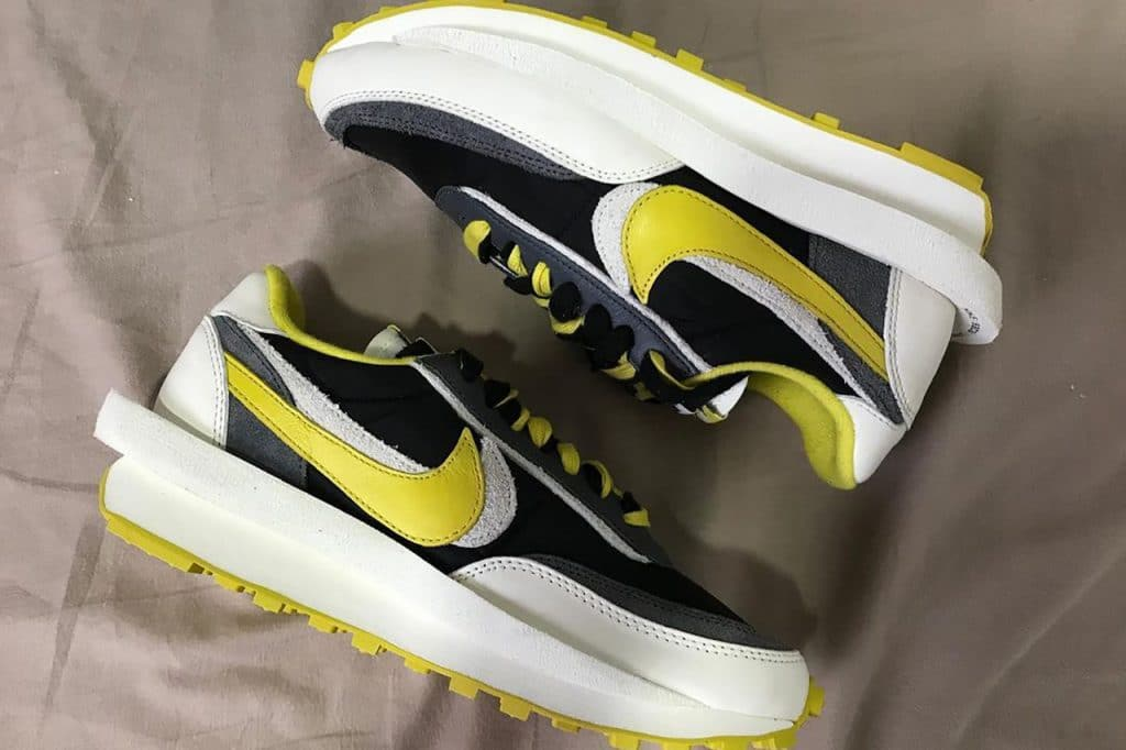 "UNDERCOVER x sacai x Nike LDwaffle ""Bright Citron"""
