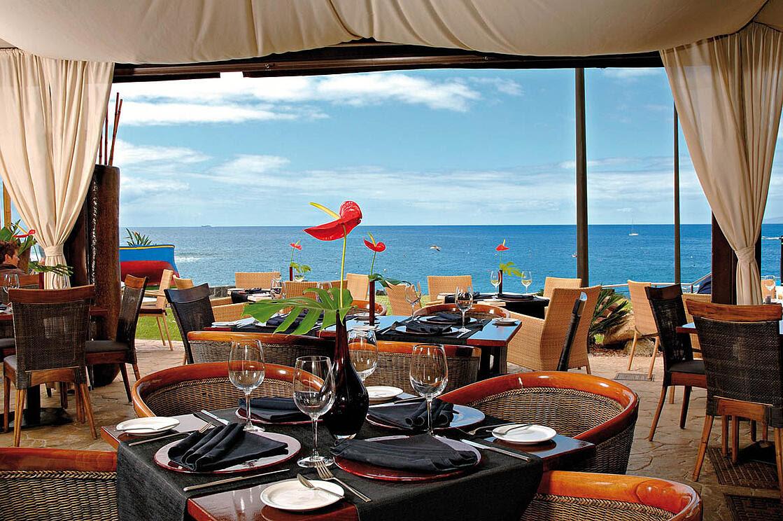 vakantie vijf restaurants met uitzicht op zee op Tenerife - rosso sul mare