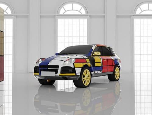 dure auto's in Piet Mondriaan - Autosalon Mondrian