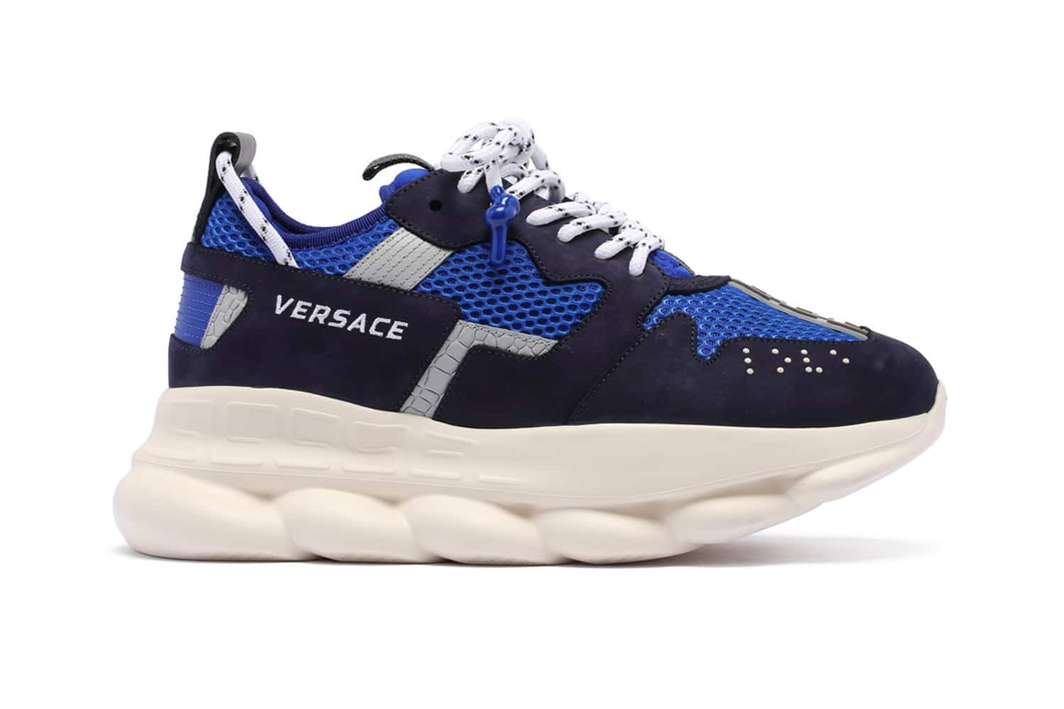 Versace Chain Reaction 2 sneaker is chunky & blauw | MANNENSTYLE