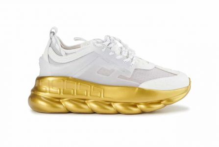 Versace Chain Reaction Sneakers wit goud