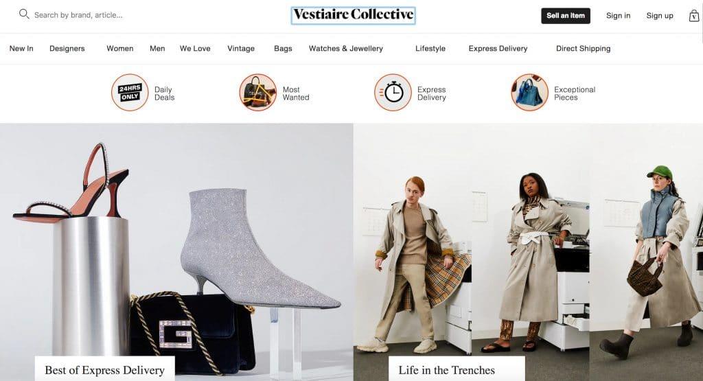 Vestiaire online marktplaats luxe merken luxe sneakers