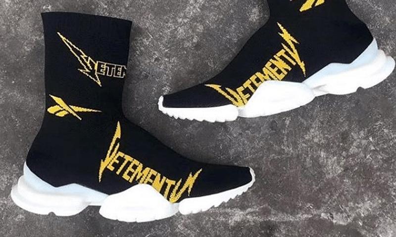 Vetements x Reebok Sock Sneaker fw19