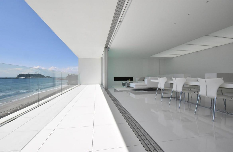 Minimalistische villa met zeezicht - interieur wonen