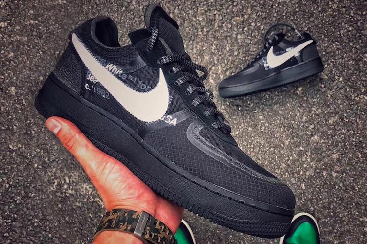 buy popular e2b28 d0fed De nieuwe Off-White x Nike Air Force 1 Black vanaf volgende maand  verkrijgbaar