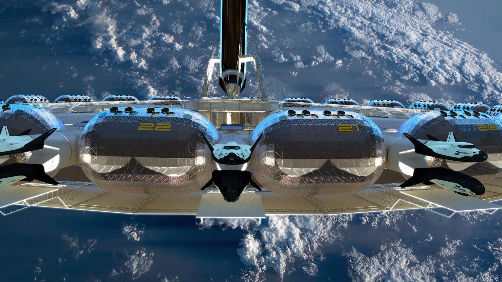 eerste ruimtehotel met kunstmatige zwaartekracht 2025 - Von Braun Space Station