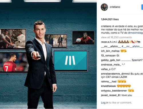 wat verdienen de grootste influencers via Instagram - Ronaldo