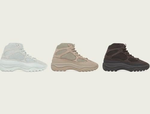"YEEZY DSRT Boots ""Salt,"" ""Rock"" en ""Oil"""