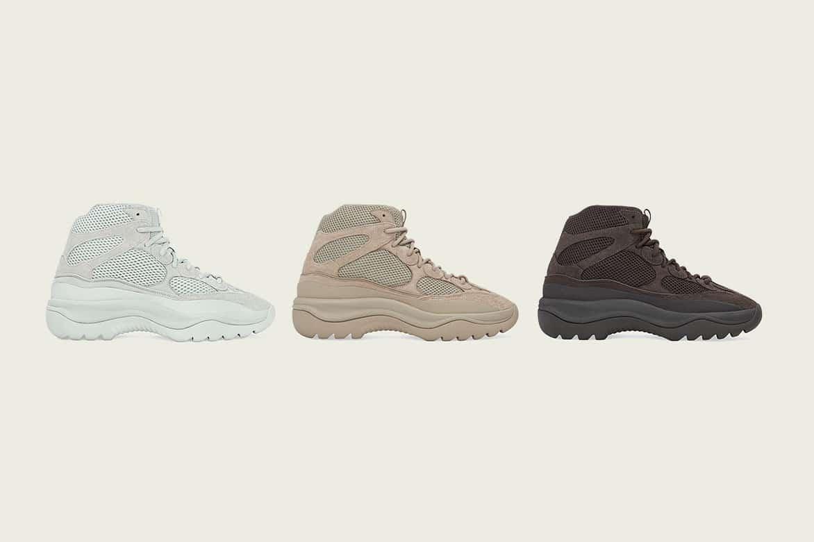 "YEEZY DSRT Boots ""Salt,"" ""Rock"" en ""Oil"""