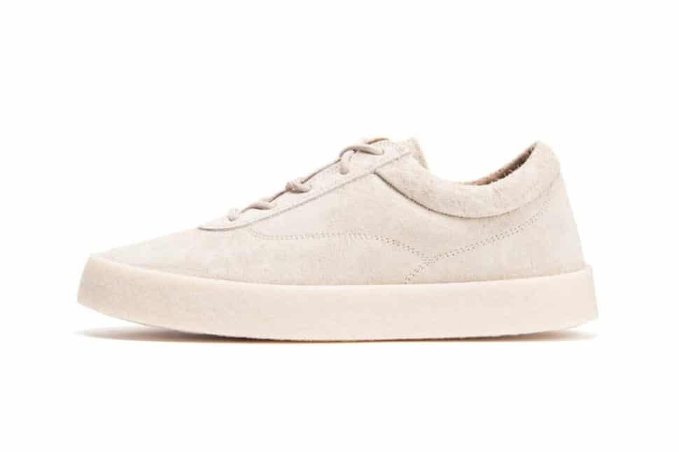YEEZY Season 6 Chalk Thick Suede Crepe Sneaker